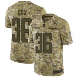Limited Jeremy Cox Youth Los Angeles Chargers Camo 2018 Salute to Service Jersey - Nike