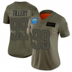 Limited Jerry Tillery Women's Los Angeles Chargers Camo 2019 Salute to Service Jersey - Nike