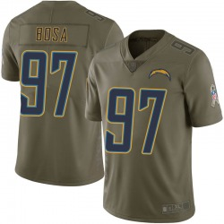 Limited Joey Bosa Men's Los Angeles Chargers Green 2017 Salute to Service Jersey - Nike