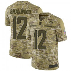 Limited Jordan Smallwood Men's Los Angeles Chargers Camo 2018 Salute to Service Jersey - Nike