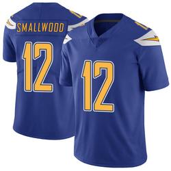 Limited Jordan Smallwood Men's Los Angeles Chargers Royal Color Rush Vapor Untouchable Jersey - Nike
