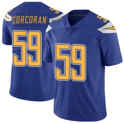 Limited Josh Corcoran Men's Los Angeles Chargers Royal Color Rush Vapor Untouchable Jersey - Nike