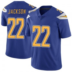 Limited Justin Jackson Men's Los Angeles Chargers Royal Color Rush Vapor Untouchable Jersey - Nike