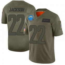 Limited Justin Jackson Youth Los Angeles Chargers Camo 2019 Salute to Service Jersey - Nike