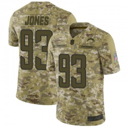 Limited Justin Jones Men's Los Angeles Chargers Camo 2018 Salute to Service Jersey - Nike