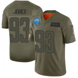 Limited Justin Jones Men's Los Angeles Chargers Camo 2019 Salute to Service Jersey - Nike