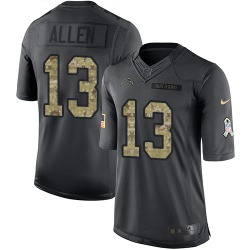 Limited Keenan Allen Men's Los Angeles Chargers Black 2016 Salute to Service Jersey - Nike