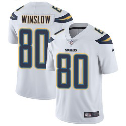 Limited Kellen Winslow Men's Los Angeles Chargers White Jersey - Nike