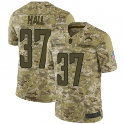 Limited Kemon Hall Men's Los Angeles Chargers Camo 2018 Salute to Service Jersey - Nike