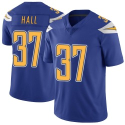 Limited Kemon Hall Men's Los Angeles Chargers Royal Color Rush Vapor Untouchable Jersey - Nike