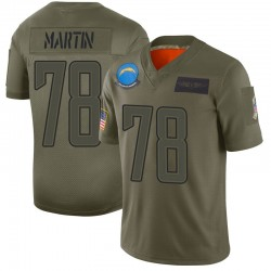 Limited Koda Martin Men's Los Angeles Chargers Camo 2019 Salute to Service Jersey - Nike