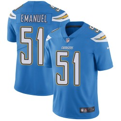Limited Kyle Emanuel Men's Los Angeles Chargers Blue Electric Alternate Jersey - Nike