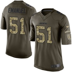 Limited Kyle Emanuel Men's Los Angeles Chargers Green Salute to Service Jersey - Nike