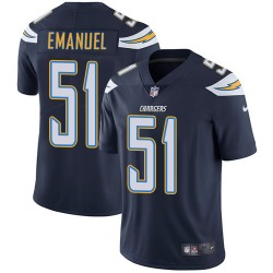 Limited Kyle Emanuel Men's Los Angeles Chargers Navy Blue Team Color Jersey - Nike