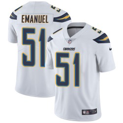 Limited Kyle Emanuel Men's Los Angeles Chargers White Jersey - Nike