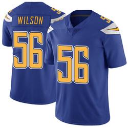 Limited Kyle Wilson Men's Los Angeles Chargers Royal Color Rush Vapor Untouchable Jersey - Nike