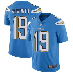 Limited Lance Alworth Men's Los Angeles Chargers Blue Electric Alternate Jersey - Nike