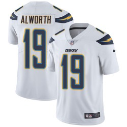 Limited Lance Alworth Men's Los Angeles Chargers White Jersey - Nike