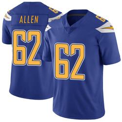 Limited Larry Allen Men's Los Angeles Chargers Royal Color Rush Vapor Untouchable Jersey - Nike