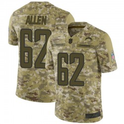 Limited Larry Allen Youth Los Angeles Chargers Camo 2018 Salute to Service Jersey - Nike