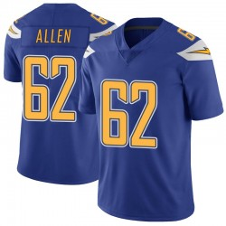 Limited Larry Allen Youth Los Angeles Chargers Royal Color Rush Vapor Untouchable Jersey - Nike