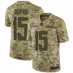 Limited Malachi Dupre Men's Los Angeles Chargers Camo 2018 Salute to Service Jersey - Nike