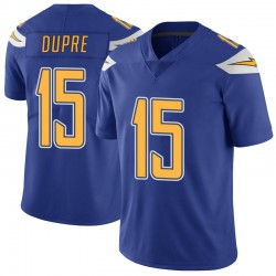 Limited Malachi Dupre Men's Los Angeles Chargers Royal Color Rush Vapor Untouchable Jersey - Nike