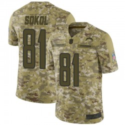 Limited Matt Sokol Men's Los Angeles Chargers Camo 2018 Salute to Service Jersey - Nike