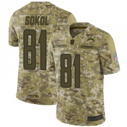 Limited Matt Sokol Youth Los Angeles Chargers Camo 2018 Salute to Service Jersey - Nike