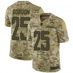 Limited Melvin Gordon Men's Los Angeles Chargers Camo 2018 Salute to Service Jersey - Nike