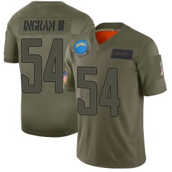 Limited Melvin Ingram Men's Los Angeles Chargers Camo 2019 Salute to Service Jersey - Nike