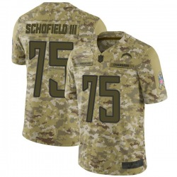 Limited Michael Schofield III Youth Los Angeles Chargers Camo 2018 Salute to Service Jersey - Nike