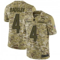 Limited Mike Badgley Men's Los Angeles Chargers Camo 2018 Salute to Service Jersey - Nike