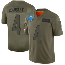 Limited Mike Badgley Men's Los Angeles Chargers Camo 2019 Salute to Service Jersey - Nike