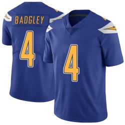 Limited Mike Badgley Men's Los Angeles Chargers Royal Color Rush Vapor Untouchable Jersey - Nike