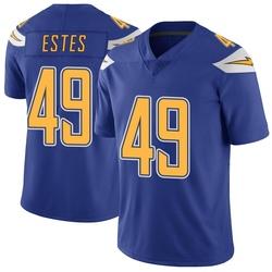 Limited Mike Estes Men's Los Angeles Chargers Royal Color Rush Vapor Untouchable Jersey - Nike