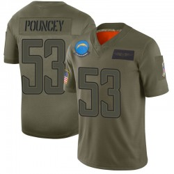 Limited Mike Pouncey Men's Los Angeles Chargers Camo 2019 Salute to Service Jersey - Nike