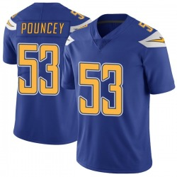 Limited Mike Pouncey Men's Los Angeles Chargers Royal Color Rush Vapor Untouchable Jersey - Nike