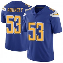 Limited Mike Pouncey Youth Los Angeles Chargers Royal Color Rush Vapor Untouchable Jersey - Nike