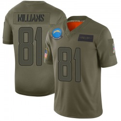 Limited Mike Williams Youth Los Angeles Chargers Camo 2019 Salute to Service Jersey - Nike