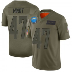 Limited Mike Windt Men's Los Angeles Chargers Camo 2019 Salute to Service Jersey - Nike