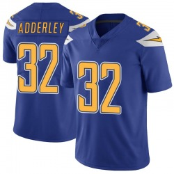Limited Nasir Adderley Men's Los Angeles Chargers Royal Color Rush Vapor Untouchable Jersey - Nike