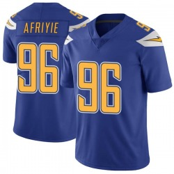 Limited Patrick Afriyie Men's Los Angeles Chargers Royal Color Rush Vapor Untouchable Jersey - Nike