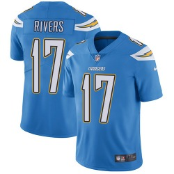 Limited Philip Rivers Men's Los Angeles Chargers Blue Electric Alternate Jersey - Nike