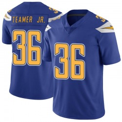 Limited Roderic Teamer Jr. Men's Los Angeles Chargers Royal Color Rush Vapor Untouchable Jersey - Nike