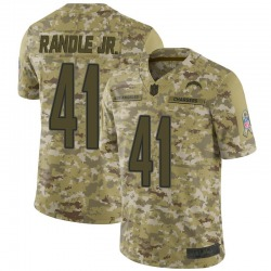 Limited Rodney Randle Jr. Men's Los Angeles Chargers Camo 2018 Salute to Service Jersey - Nike