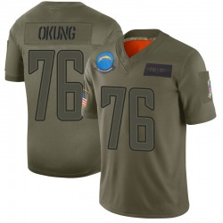 Limited Russell Okung Men's Los Angeles Chargers Camo 2019 Salute to Service Jersey - Nike