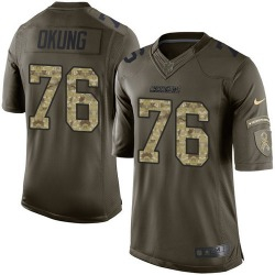 Limited Russell Okung Men's Los Angeles Chargers Green Salute to Service Jersey - Nike
