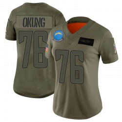 Limited Russell Okung Women's Los Angeles Chargers Camo 2019 Salute to Service Jersey - Nike