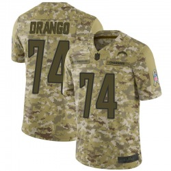 Limited Spencer Drango Youth Los Angeles Chargers Camo 2018 Salute to Service Jersey - Nike
